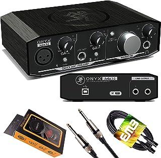 Mackie Onyx Artist 1-2 USB Audio Interface 2-in/2-out, 24-bit/192kHz, with 1 Onyx Mic Preamp, Zero-Latency Direct Monitori...