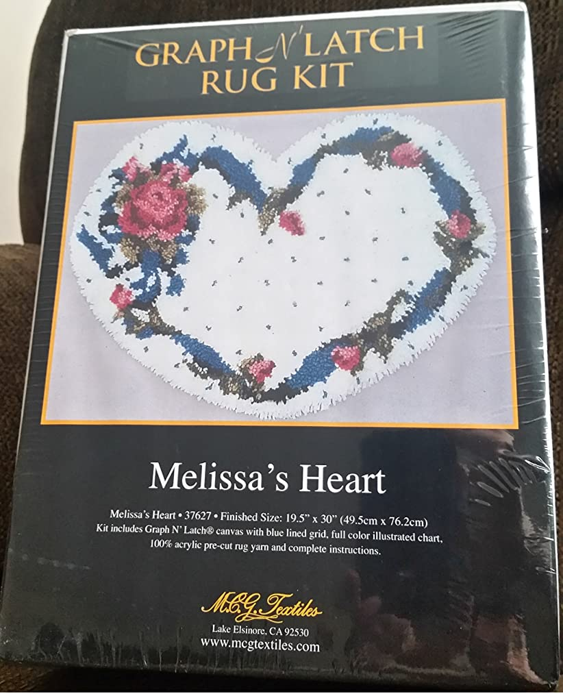 Graph N' Latch Rug Kit Melissa's Heart