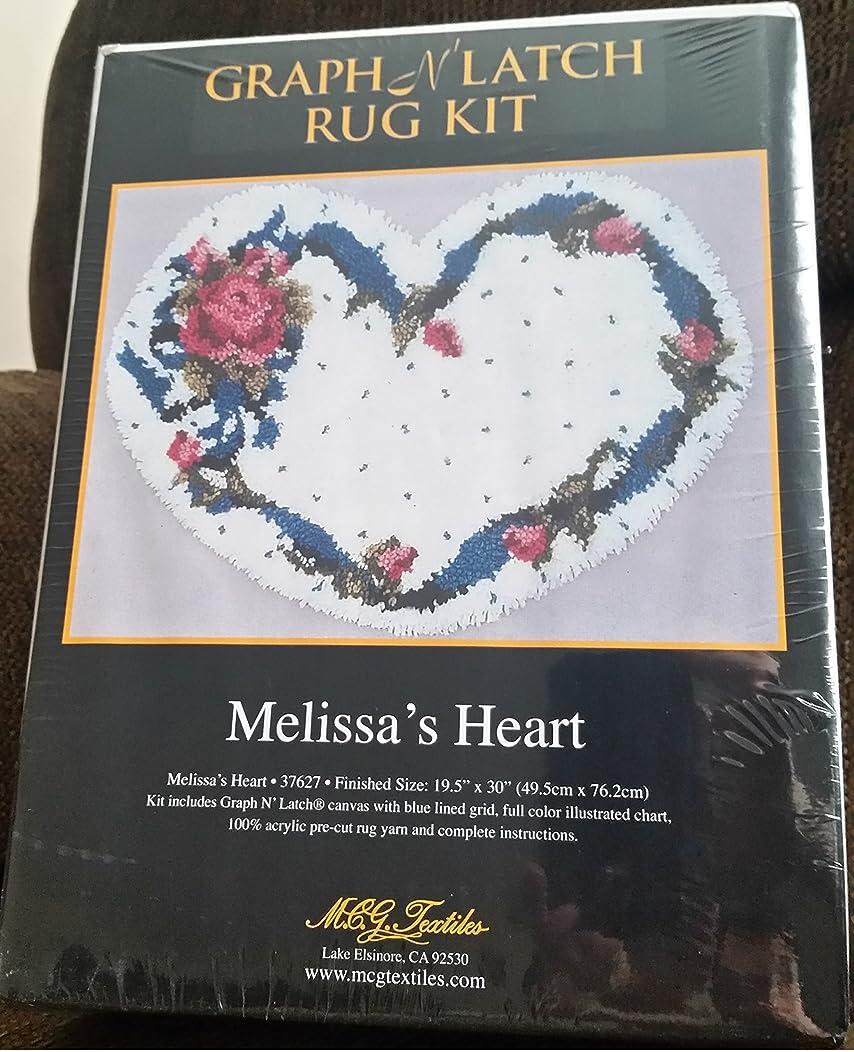 Graph N' Latch Rug Kit Melissa's Heart