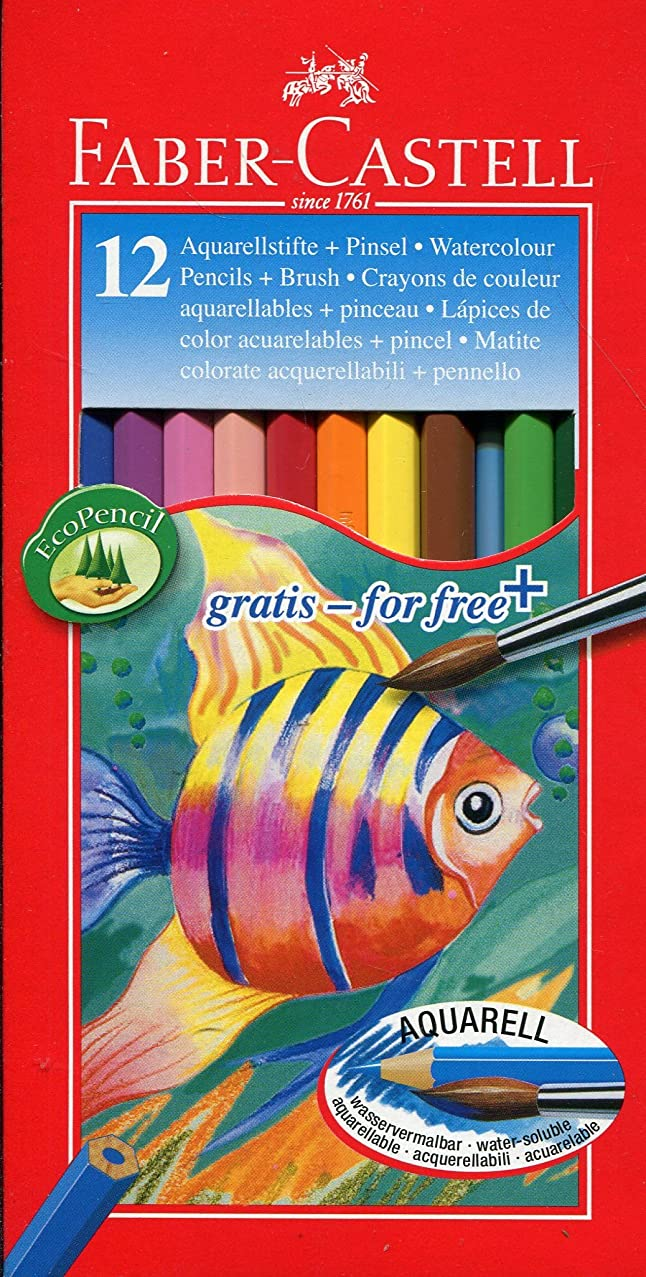 Faber Castell 12 Aquarelle Water Color Pencils -12 Shades