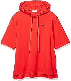 [ラコステ] ポロシャツ [公式] ソリッドコットンピケフードポロシャツ (半袖) レディース PF8046L