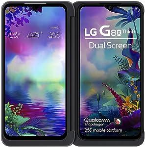 LG G8X | Dual Screen (Aurora Black, 6GB RAM, 128GB Storage, Dual OLED Screens)