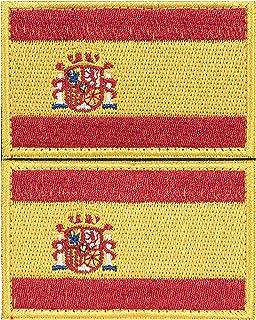 2 x Parche España Parches Velcro España Español Bandera Táctico bandera con velcro podría ser pegado a la ropa, chaleco, gorra, mochila original