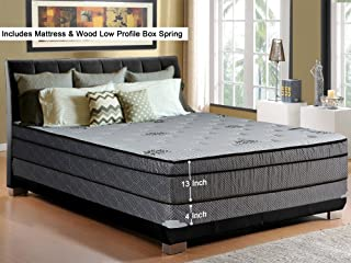Continental Sleep, 13-Inch Soft Foam Encased Hybrid Eurotop Pillowtop Innerspring Mattress And 4
