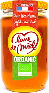 Lune de Miel Honey Moon Organic Pure Bee Honey, 375 gm (Pack of 1)