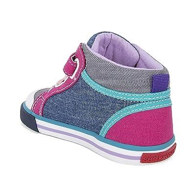 See Kai Run Kids Peyton (Toddler/Little Kid) (Blue/Gray) Girls Shoes
