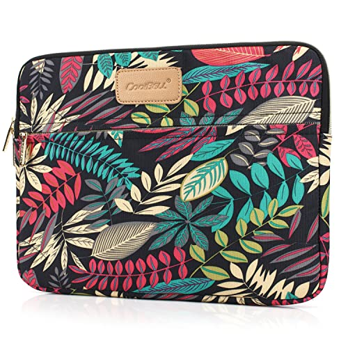 CoolBELL 15.6 Inch Laptop Sleeve Case Cover With Colorful Leaves Pattern Ultrabook Sleeve Bag For Ultrabook