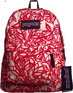 JanSport T501 SuperBreak Backpack (Coral Dusk Jungle Adventure)