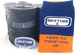 Biketube Brand Mountain Bike Inner Tubes - Super Value 4 Pack - Free TubeSock and Sticker - Select Your Size