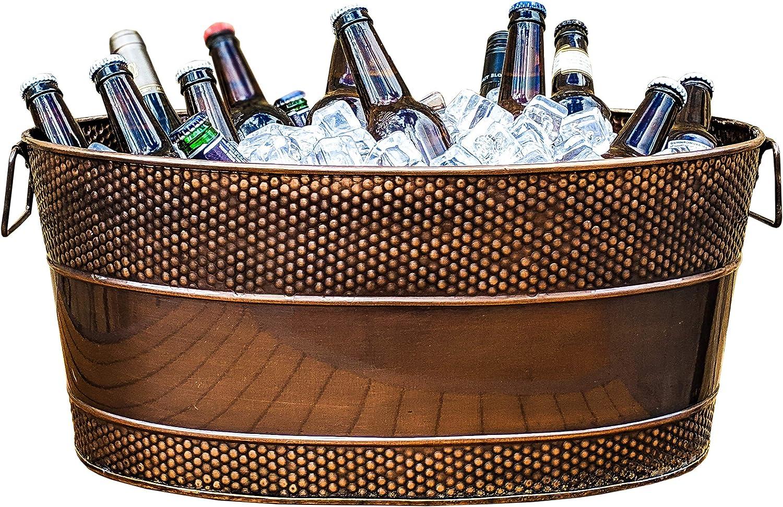 BREKX Aspen Galvanized Copper-Finish Metal free Bucket Ice 5% OFF and Drink