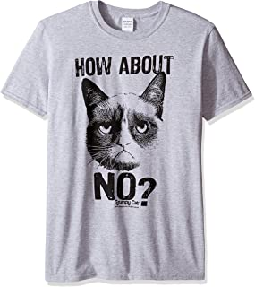 Men's Grumpy Cat How About No Graphic T-Shirt