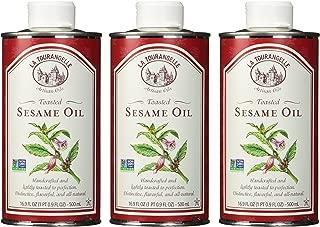 La Tourangelle Toasted Sesame Oil, 16.9-Ounce Unit (Pack of 3)