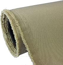 Waterproof Canvas Fabric Outdoor 600 Denier Indoor/Outdoor Fabric by The Yard PU Backing UV Protector Canvas Marine Awning Fabric Khaki, Sand (1 Yard)