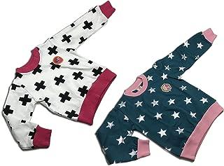 Michael's Originals 中性款幼童 2 件套运动衫(3 岁,白色-深蓝色-星星)