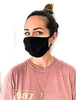 UNIME Fashion Protective Face Masks, Unisex Black Dust Cotton Mouth Masks, Washable,..