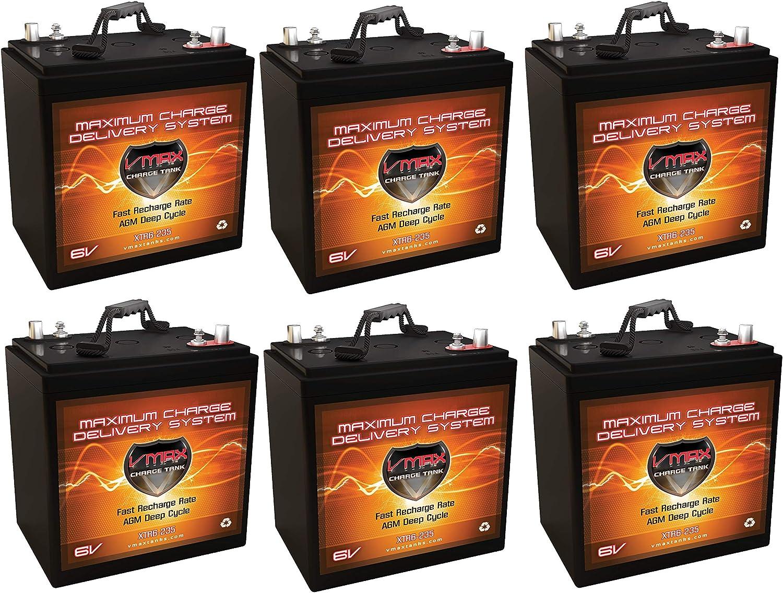 Qty Outstanding 6 XTR6-235 6V 235AH AGM Bank Solar Max 90% OFF VMAX Battery Xtreme