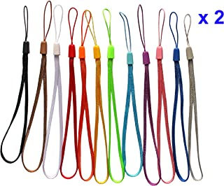 2 Dozen Wrist Straps Lanyards for USB Flash Drive Memory Stick Capacitive Stylus Pens Assorted Colors (Multi-Color (7 inch 24 pcs))