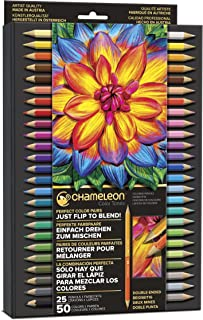 Chameleon Art Products, Multicolor Tones Pencils, with Convenient Storage Case - 50 Colors