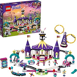 LEGO 41685 Friends Magical Funfair Roller Coaster Fairground Set, Amusement Park Toy for Kids 8+ Years Old with Magic Tricks