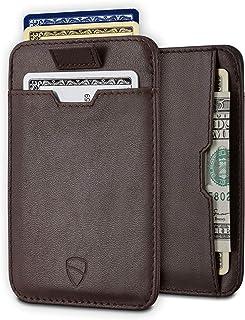 CHELSEA Slim Minimalist Leather Mens Wallet with RFID Blocking, Front Pocket Credit Card Holder