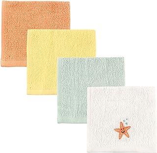 Luvable Friends Unisex Baby Super Soft Cotton Washcloths, Starfish, One Size