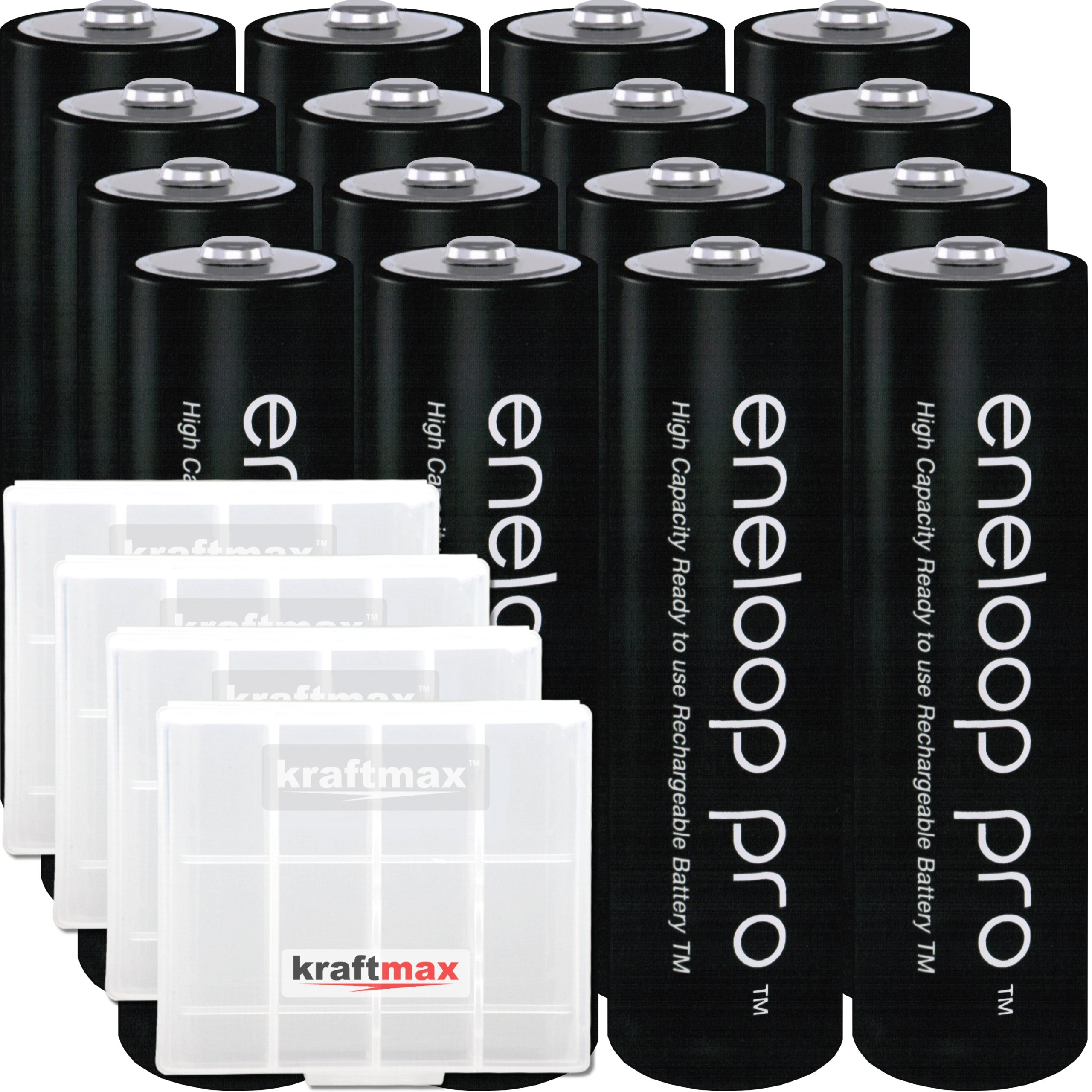 Kraftmax Eneloop Pro XX 16er-Pack: Amazon.es: Electrónica