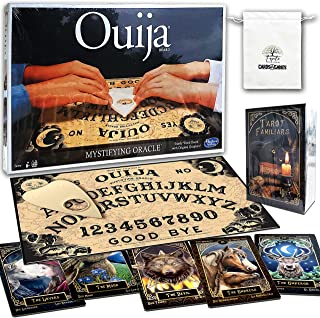 Classic Ouija Board Bundle with Tarot Familiars Cards and Random Color Drawstring Bag
