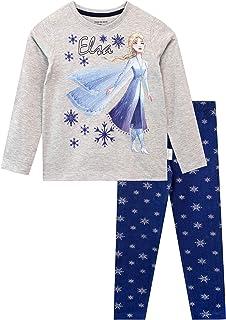 Disney Frozen 2 Bambina Prodotto Originale con Licenza Ufficiale Pigiama Coordinato 2pz Maglia a Maniche Corte e Pantaloncino