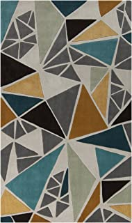 Surya Cosmopolitan COS-9199 Hand Tufted 100-Percent Polyester Geometric Accent Rug, 3-Feet 6-Inch by 5-Feet 6-Inch