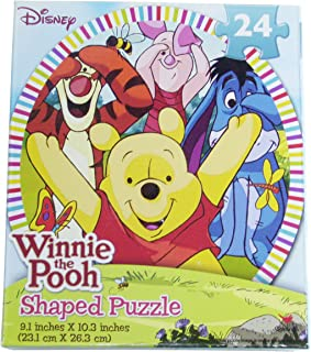 Disney Winnie the Pooh 24 Piece Oval Shaped Puzzle ~ Peek-A-Boo with Winnie and Friends