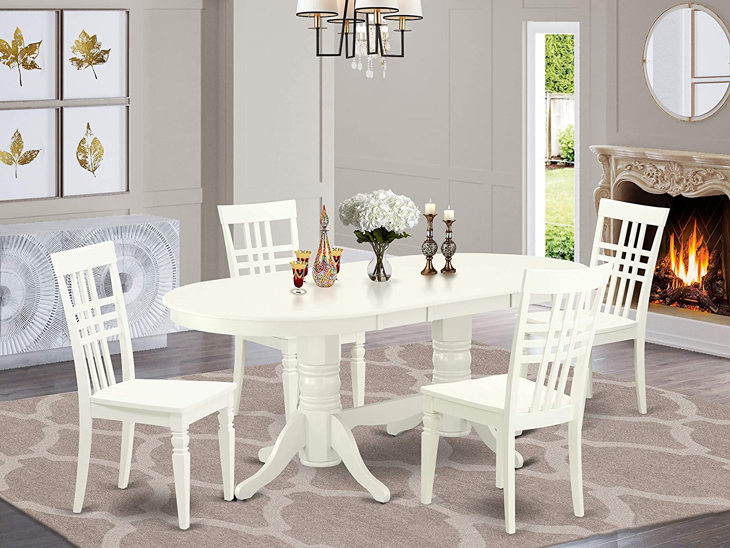 5 Pc Dining-Room Set Table With Rare And SEAL limited product Butterfly Storing Self Leaf