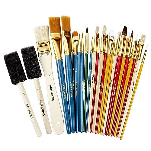 "Arts /& Craft Paint Brushes Black Bristle Craft Paste Brushes 1//2/"" Pack of 10"