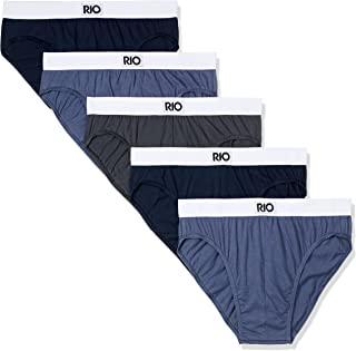 Rio Men's Underwear Cotton Hipster Brief (5 Pack)