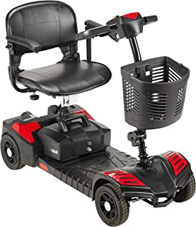 Drive Medical Scout Compact Travel Power Scooter, 4 Wheel, Extended Battery