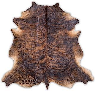 Cowhide Rug, Dark Brindle: XXL 6x8ft (180cmx240cm)