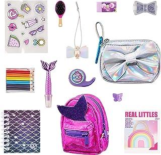 REAL LITTLES - حقيبة ظهر صغيرة قابلة للتحصيل وحقيبة يد صغيرة مع 12 مفاجأة عمل صغيرة بالداخل! , متعدد الألوان (25324)