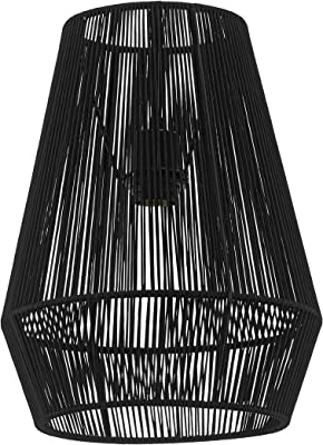 Schwarz Star Knute Lampenschirm 30 x 33 cm Metall