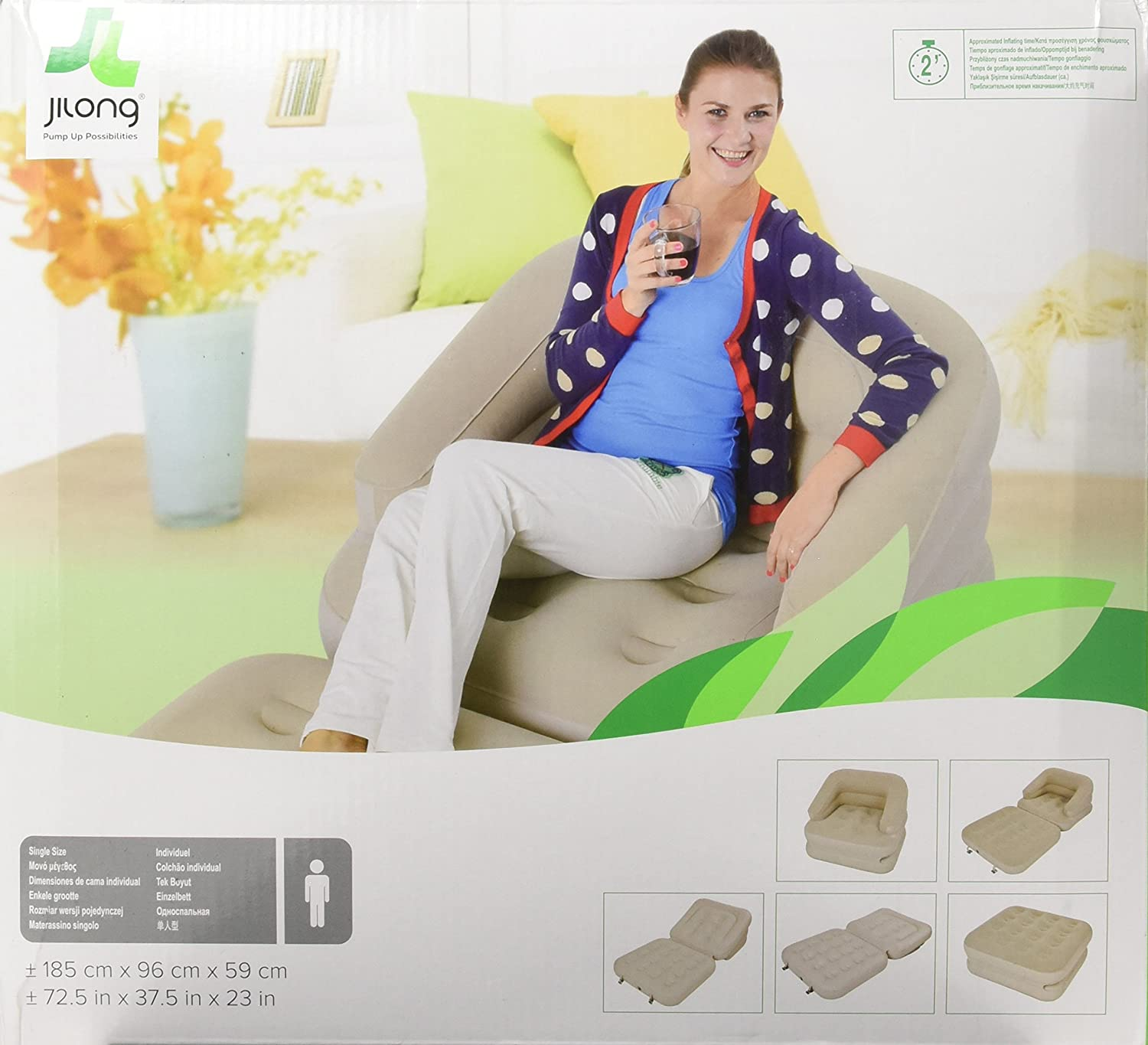Jilong Multi-Functional Inflatable Lounge Chair Bed