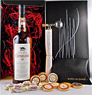 Geschenk Clynelish 14 Jahre Single Malt Whisky  Portionierer  Schokolade  Fudge