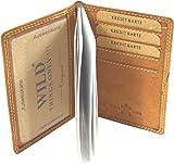 flevado Sportlich handliche Wild B�ffel Leder Kredit Geldkarten Geldb�rse Visitenkarten Etui