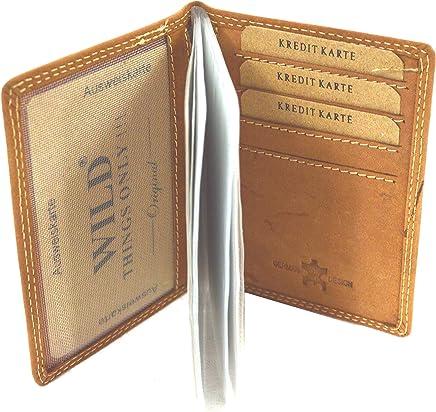 flevado Sportlich handliche Wild B�ffel Leder Kredit Geldkarten Geldb�rse Visitenkarten Etui : B�robedarf & Schreibwaren