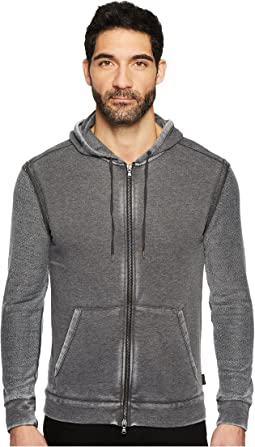 John Varvatos Star U.S.A. - Knit Hoodie in Burnout Wash