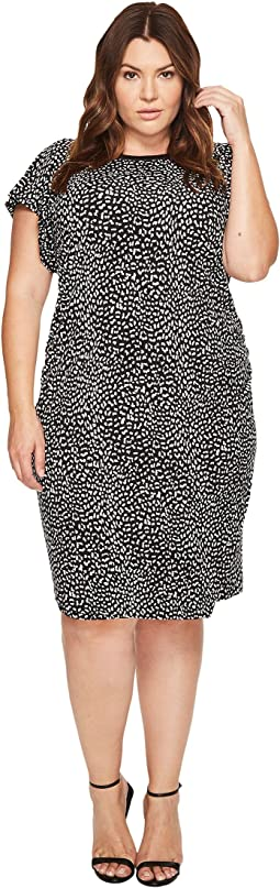 MICHAEL Michael Kors - Plus Size Cheetah Ruffle Sleeve Dress