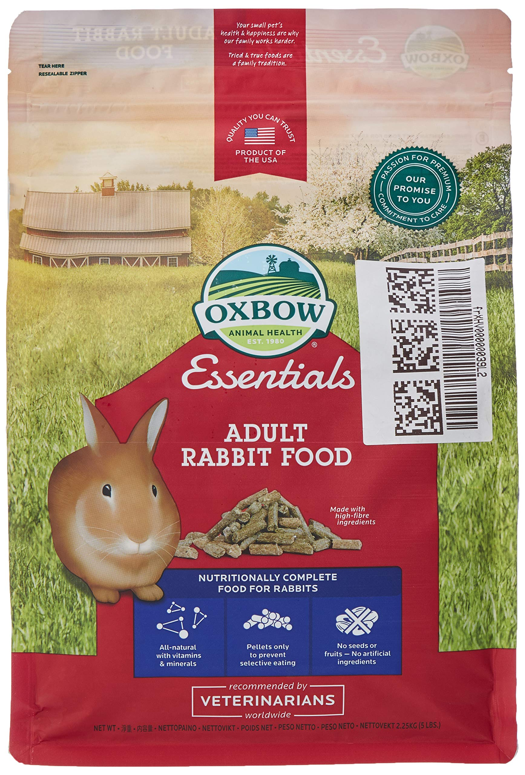 Bunny Basics Adult Rabbit Pig Food, 2.25Kg