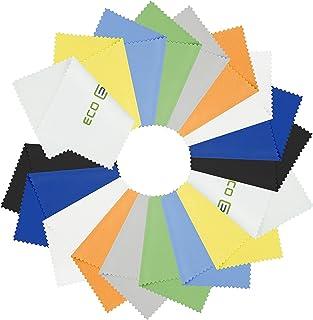 18 paños de Limpieza de Microfibra para teléfonos móviles, portátiles, tabletas, Gafas, Gafas, Plata y Superficies delicadas