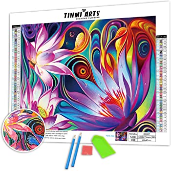 DIY Full Round Drill 5D Diamond Painting Kits By Number for Adults and Beginner Embroidery Arts Craft Three Horse 15.7x11.8 in By witfox