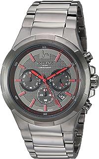 Tornado Men's Grey Dial Stainless Steel Band Watch - T8102-XBXXR
