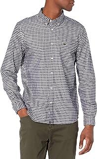Men's Long Sleeve Gingham Regular Fit Poplin Shirt