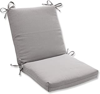 Pillow Perfect Outdoor/Indoor Tweed Squared Corners Chair Cushion, Gray