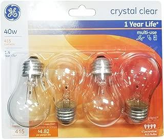 GE Ceiling Fan Bulb, 40W, 4pk